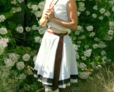 one necktie wraparound skirt